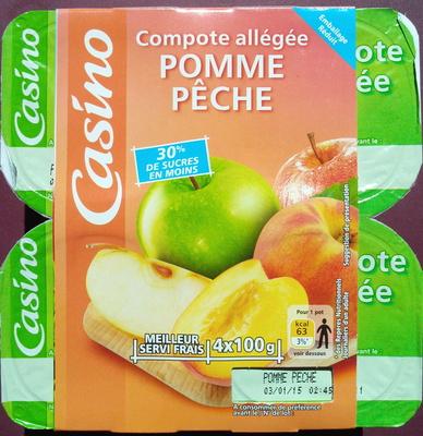 Compote Allégée Pommes Pêches - Produit