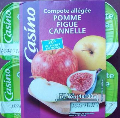 Compote allégée - Pommes Figues Cannelle - Produkt