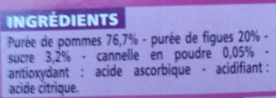 Compote allégée - Pommes Figues Cannelle - Inhaltsstoffe