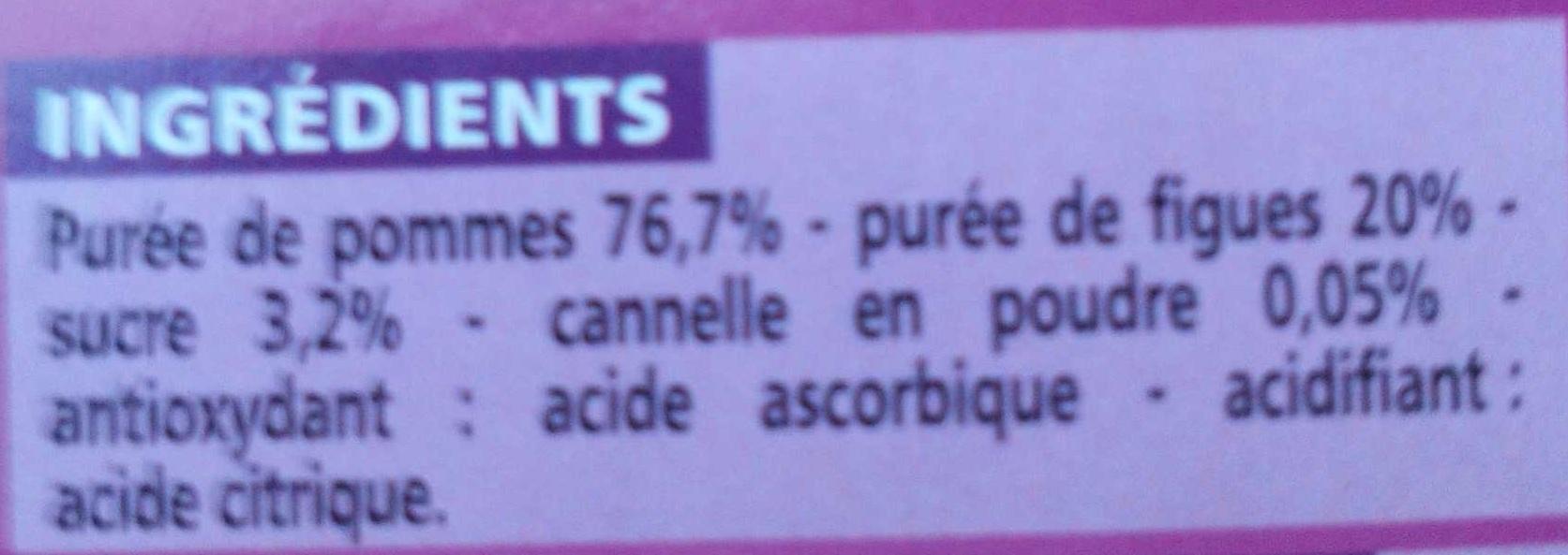 Compote all g e pomme figue cannelle casino 400 g 4 x 100 g - Acide citrique poudre ...