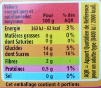 Compote allégée - Pommes Figues Cannelle - Nährwertangaben