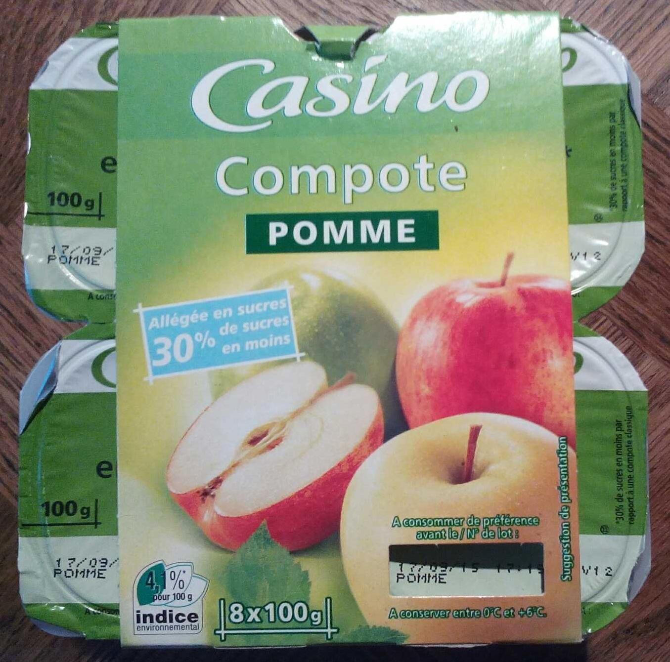 Compote Pomme allégée en sucres - Produkt