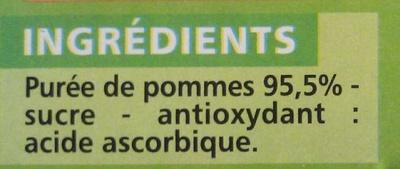 Compote Pomme allégée en sucres - Inhaltsstoffe