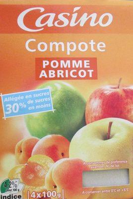 Compote Pomme Abricot allégée en sucres - Produkt
