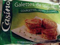 Galettes de légumes Courgettes - Petits légumes - Produit
