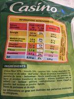 Galettes de légumes Choux-fleurs - brocolis - carottes - Ingrédients