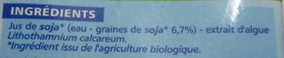 Boisson au soja calcium BIO - Ingrediënten