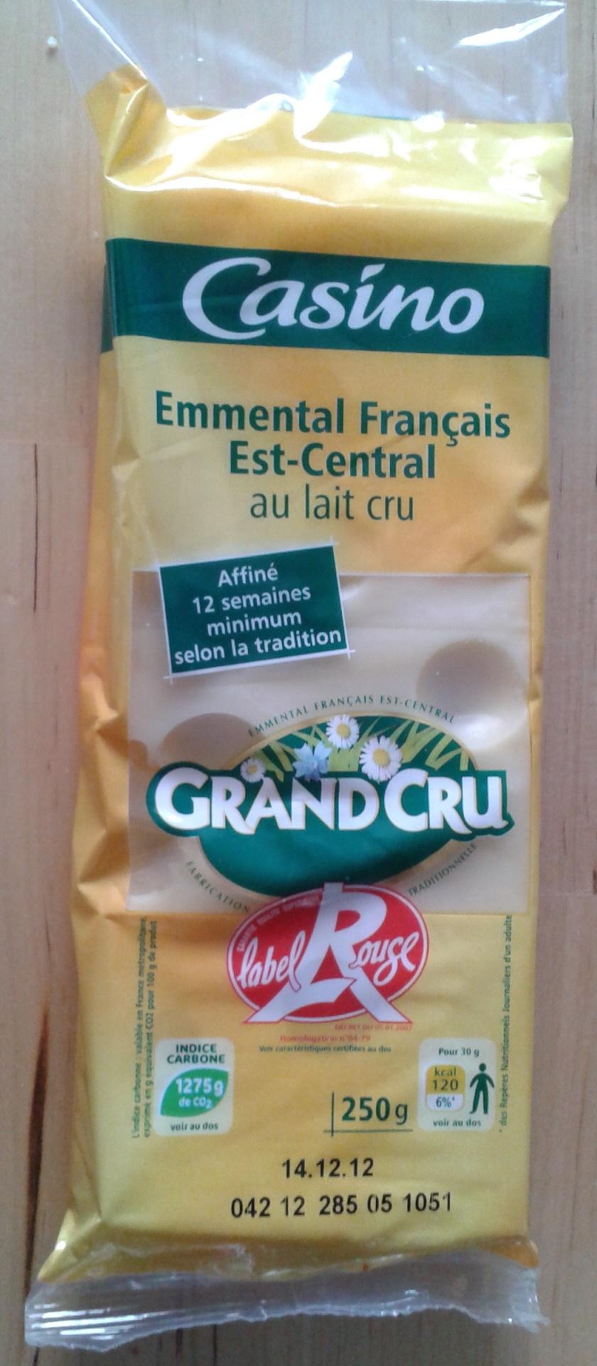 Emmental Français Est-Central IGP au lait cru (32 % MG) Grand Cru - label Rouge - Produit - fr