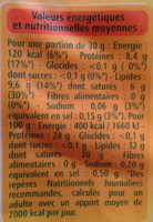 Emmental Français Est-Central IGP au lait cru (32 % MG) Grand Cru - label Rouge - Informations nutritionnelles - fr