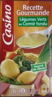 Velouté de légumes et légumes verts au Comté fondu - Product - fr