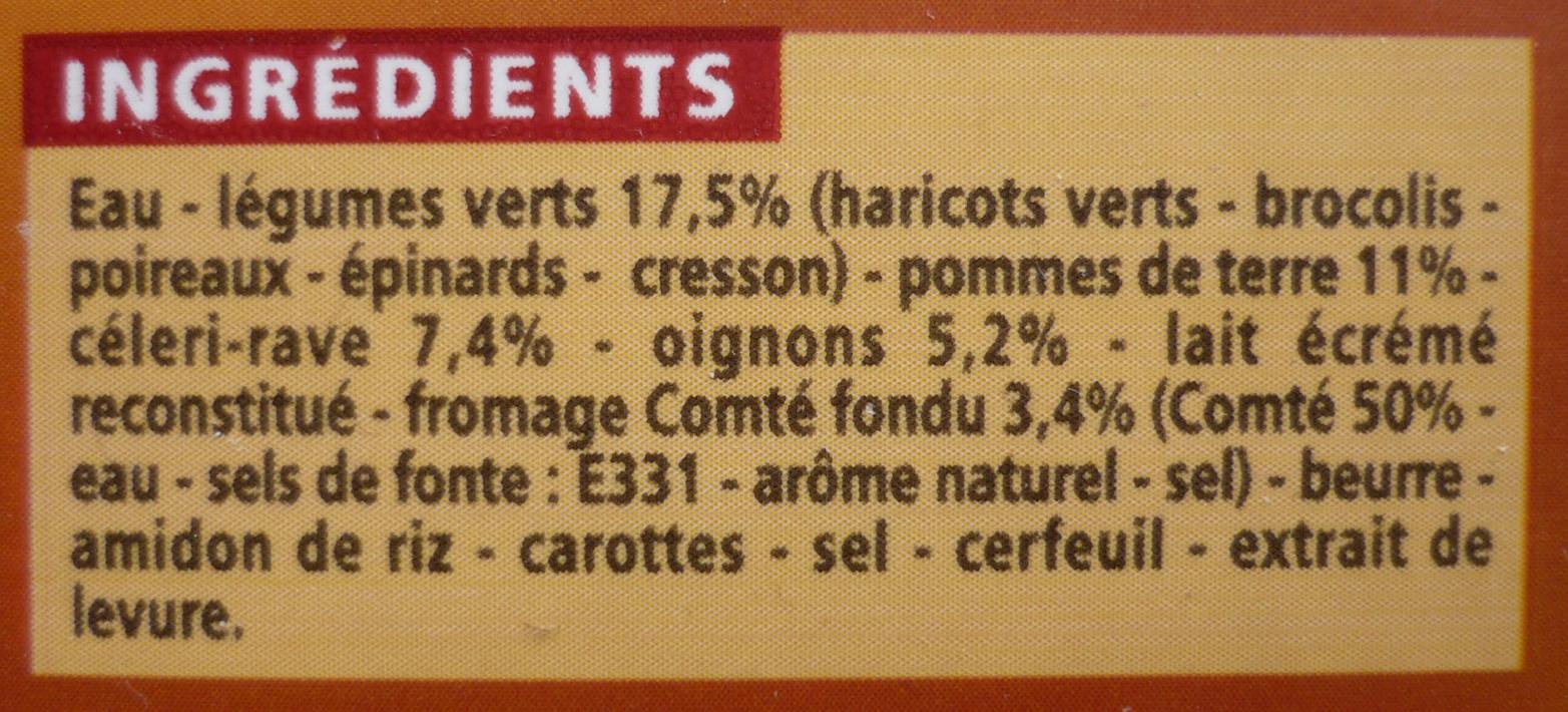 Velouté de légumes et légumes verts au Comté fondu - Ingredients - fr