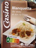 Blanquette de veau et son riz blanc - Product