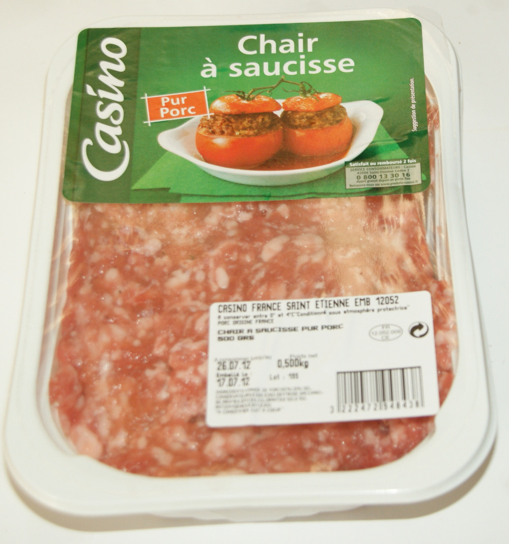 Chair à saucisse Pur Porc - Product - fr
