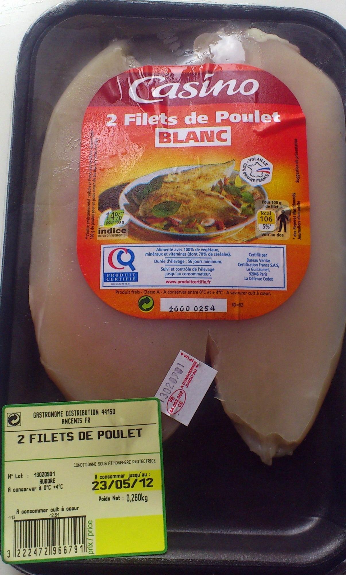 Filets de poulets, blanc - Produit