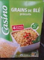 Grains de blé précuits - Produit - fr