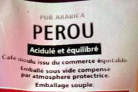 Café moulu pur arabica Pérou 250g - Ingrediënten - fr