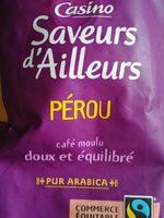 Café moulu pur arabica Pérou 250g - Voedingswaarden - fr