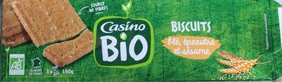 BISCUITS blé, épeautre et sésame - Produit