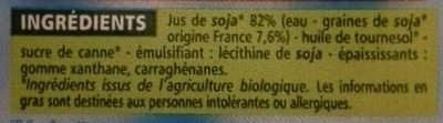 Soja Cuisine - Ingrediënten - fr