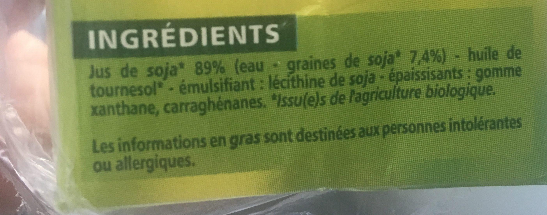 Soja Cuisine - Ingredients