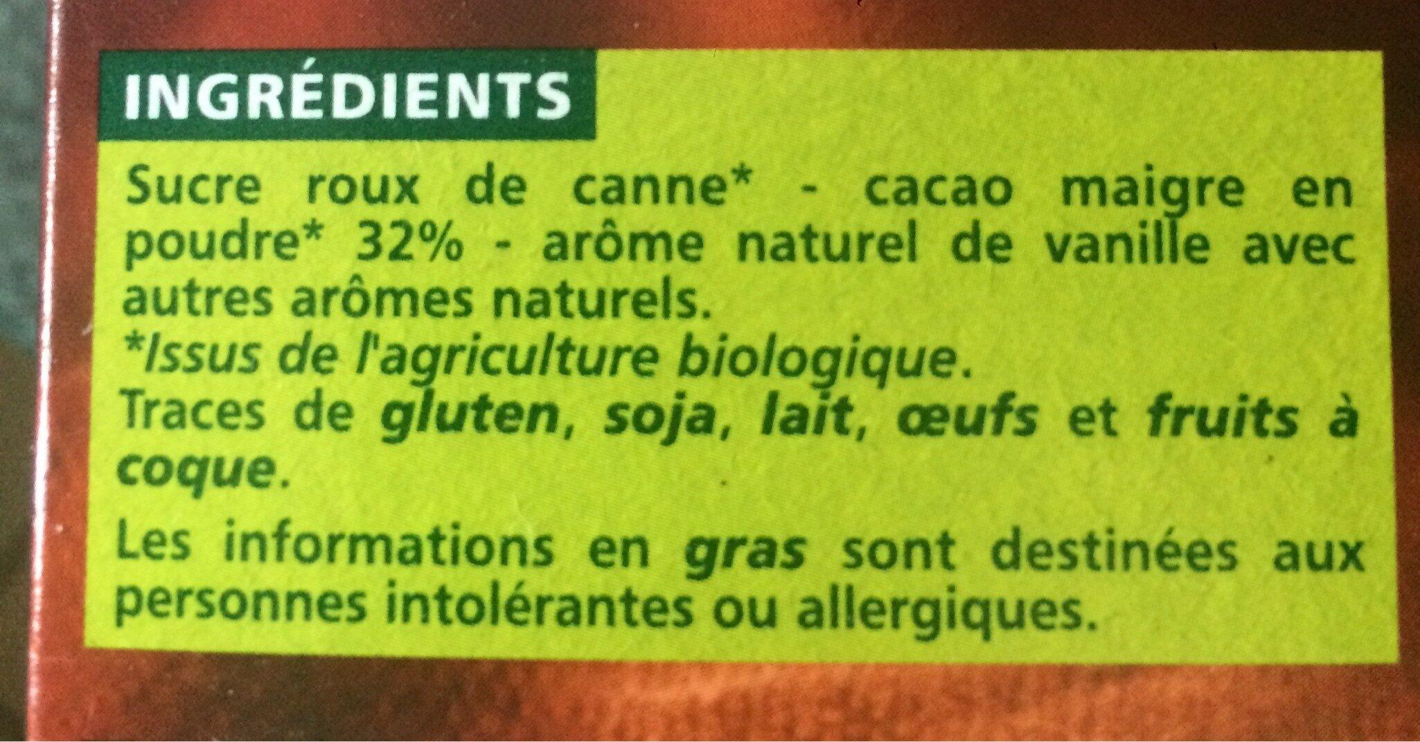 Petit déjeuner cacaoté - origine Amérique Latine - Ingredients - fr