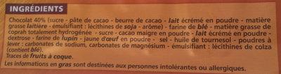 Choco Gaufrettes - Ingrédients