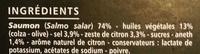 Carpaccio de Saumon aux zestes de citron et à l'aneth - Ingrédients - fr