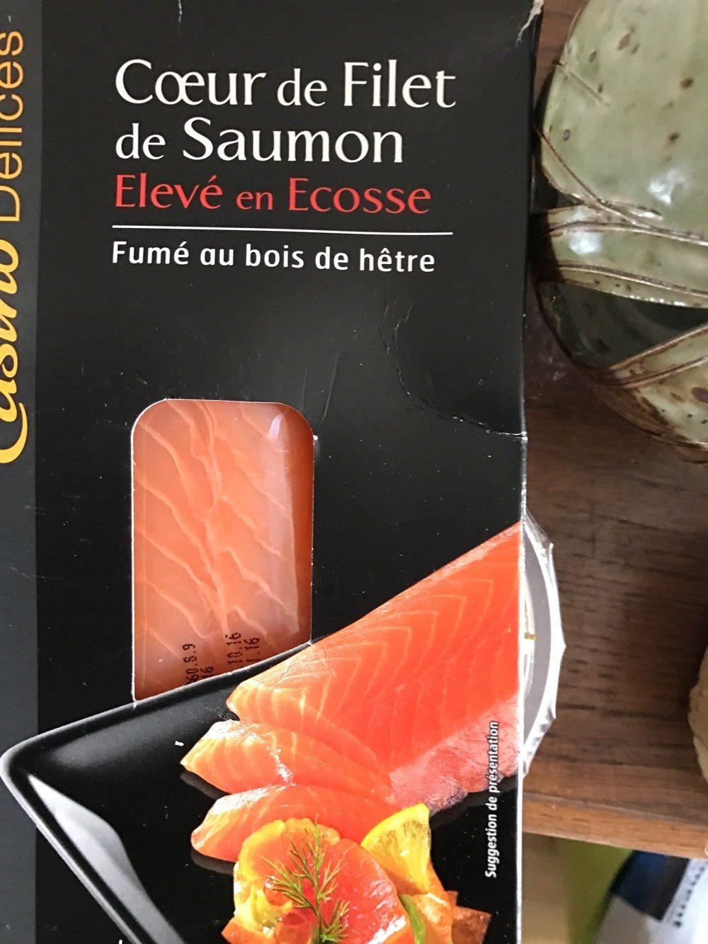 Cœur de filet de saumon fumé élevé en Ecosse - Product
