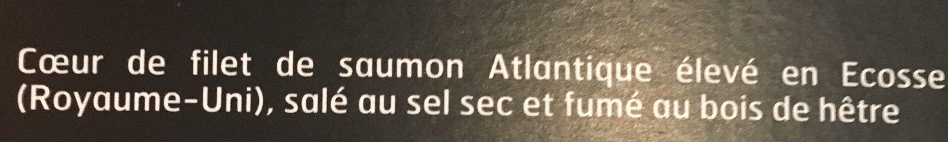 Cœur de filet de saumon fumé élevé en Ecosse - Ingrediënten