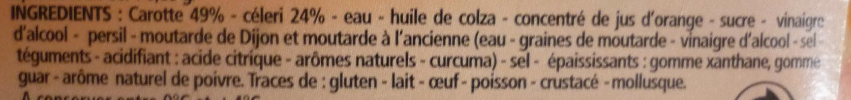 Duo carottes et céleri - Ingrediënten - fr