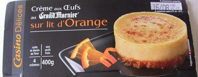 Crème aux œufs saveur vanille sur lit à l'orange - cuite et dorée au four - Product - fr