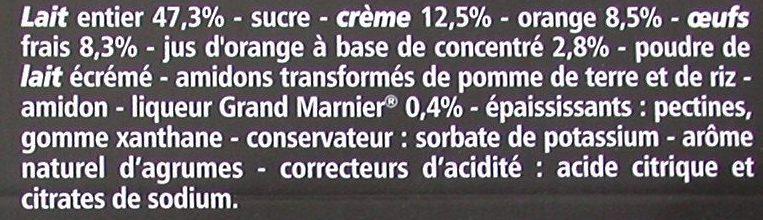 Crème aux œufs saveur vanille sur lit à l'orange - cuite et dorée au four - Ingrediënten - fr