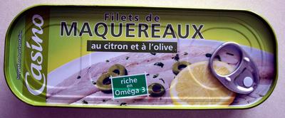 Filets de Maquereaux (au citron et à l'olive) - Produit