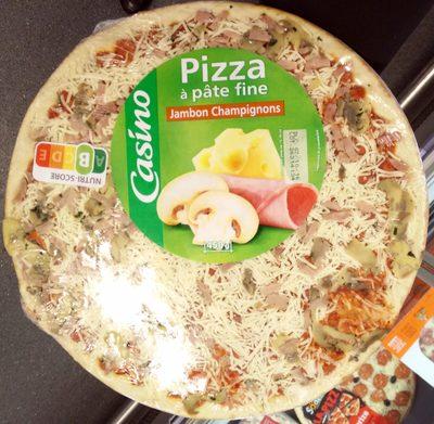 Pizza à pâte fine Jambon Champignons - Produit - fr