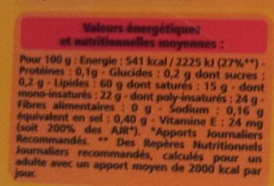 Tartine et Cuisine - 60% de matières grasses - Informations nutritionnelles - fr