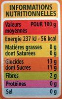 Purée pomme poire sans sucres ajoutés* *conformément à la réglementation. contient des sucres naturellement présents dans les fruits. - Nutrition facts