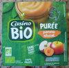 Purée pomme abricot sans sucres ajoutés* *conformément à la réglementation. contient des sucres naturellement présents dans les fruits. - Product