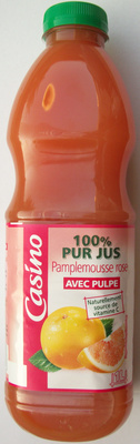 100% Pur Jus Pamplemousse rose avec pulpe - Produit - fr