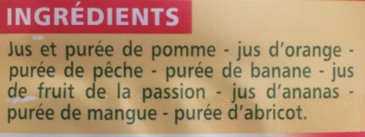 100 % Pur Jus multifruits - Ingredients