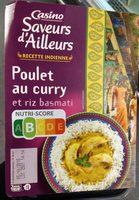 Poulet au curry et riz basmati - Produit