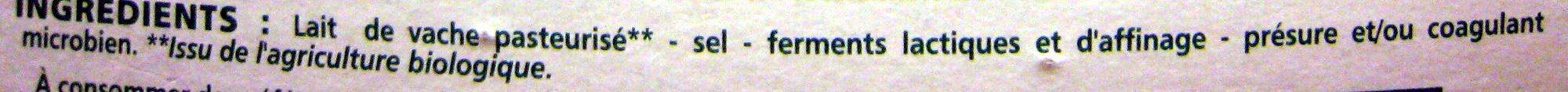 Camembert BIO - Ingrediënten