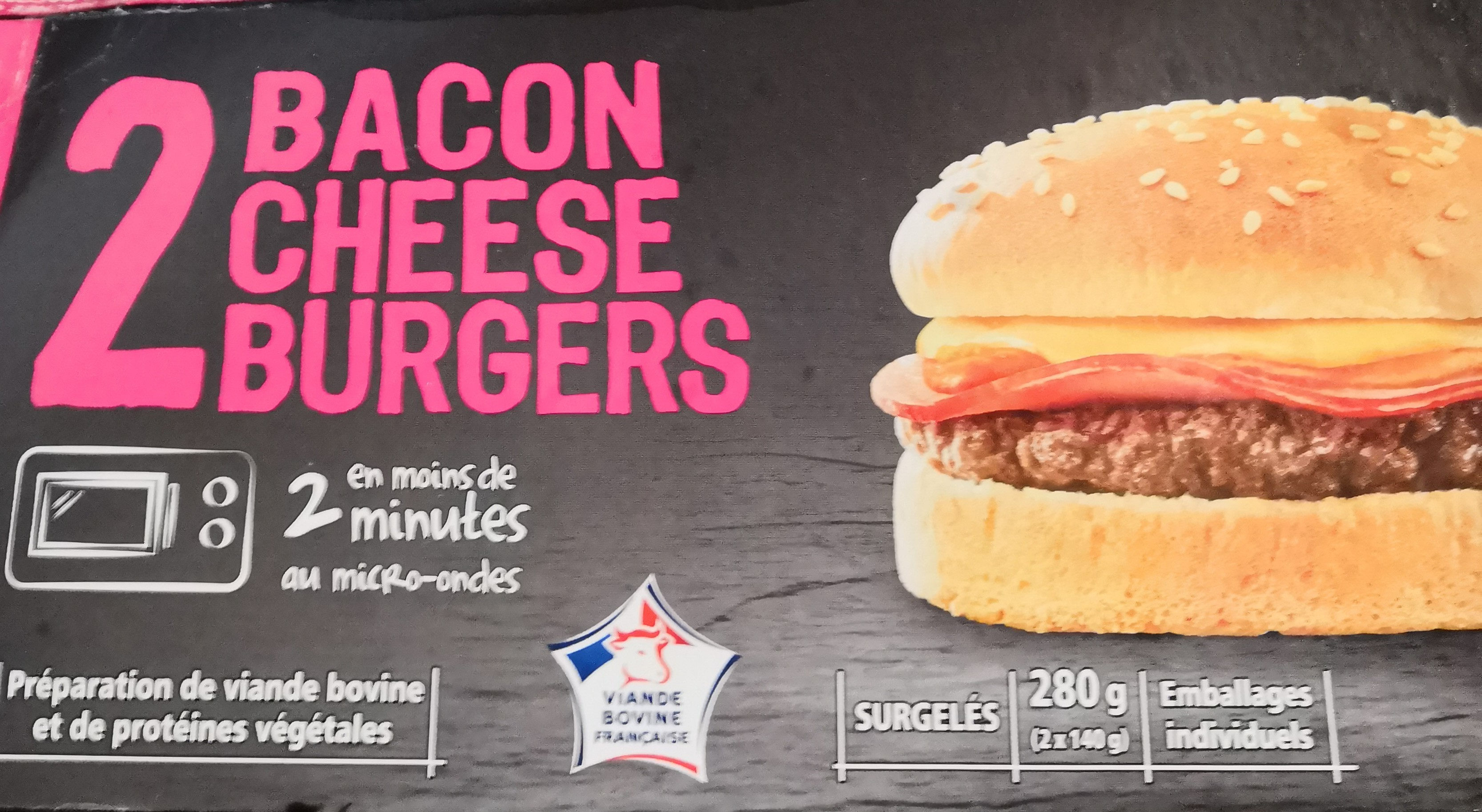 2 Baconcheeseburgers - Produit
