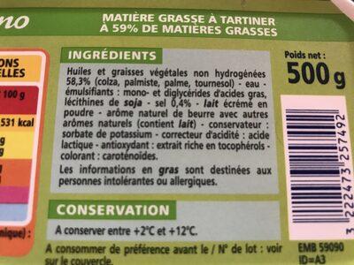 Naturellement riche en acides gras Oméga 3 - Ingrediënten - fr