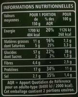 Tortellini jambon cru recette aux oeufs frais - Informations nutritionnelles - fr