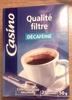 Café Qualité filtre Décaféiné - Product