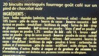 Petits Plaisirs saveur Cappuccino - Ingredients