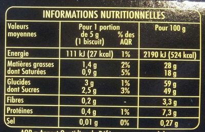 Petits Plaisirs saveur Cappuccino - Nutrition facts