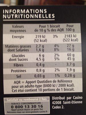 Les Fameux Délischuss - Nutrition facts