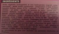 Mini Choux Tapenade 60G Co - Ingrédients - fr