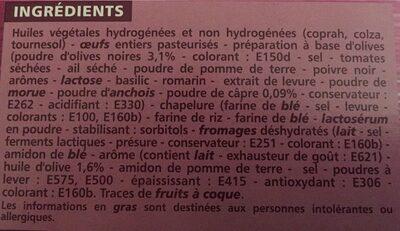 Mini Choux Tapenade 60G Co - Informations nutritionnelles - fr